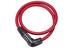 ABUS Numerino 5412 Combo Color Zapięcie kablowe  5412C/85/12 czerwony